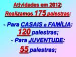 atividades em 20124