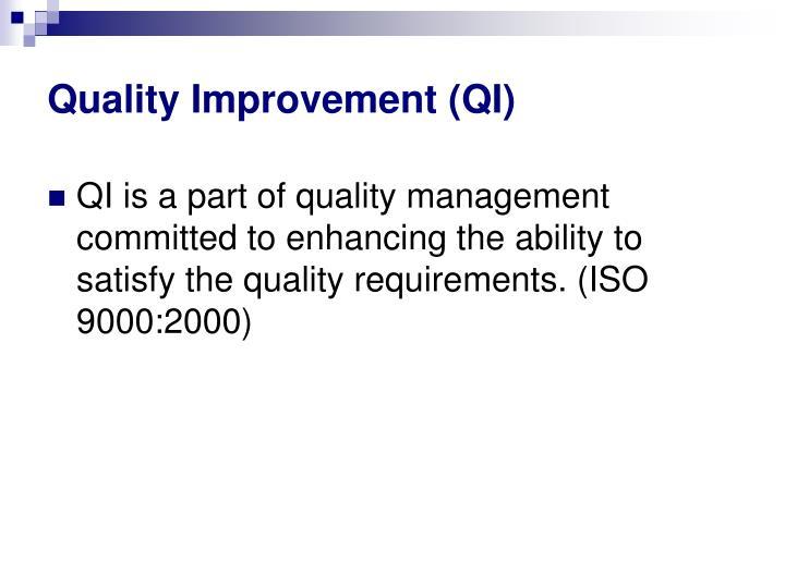 Quality improvement qi