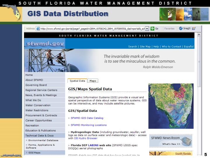 GIS Data Distribution