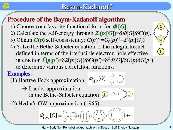 Baym-Kadanoff