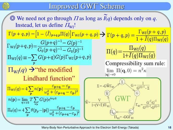 Improved GW