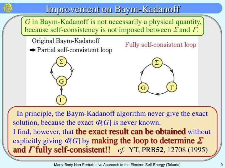 Improvement on Baym-Kadanoff