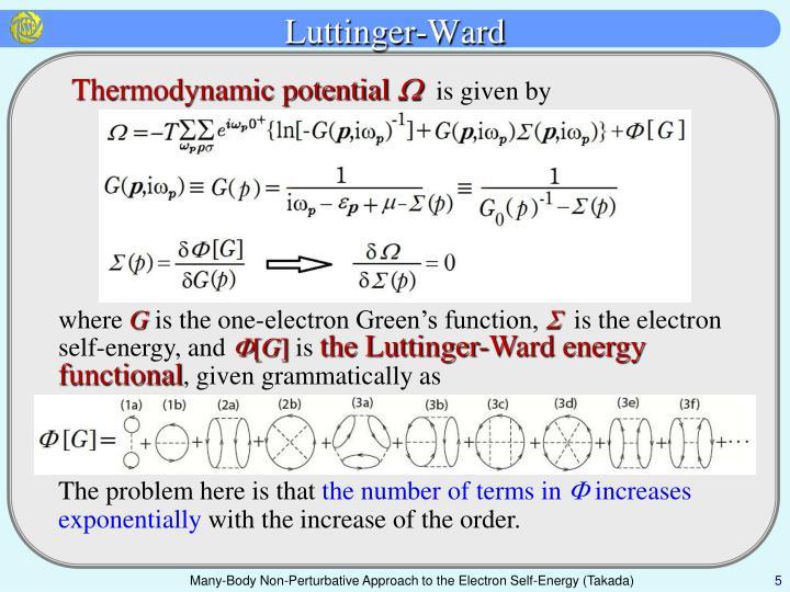 Luttinger-Ward