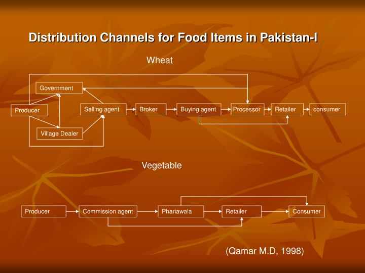 Distribution Channels for Food Items in Pakistan-I
