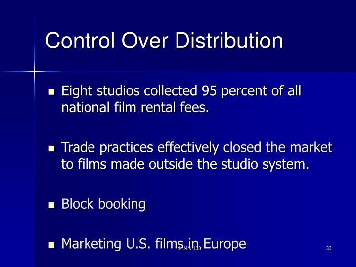 Control Over Distribution