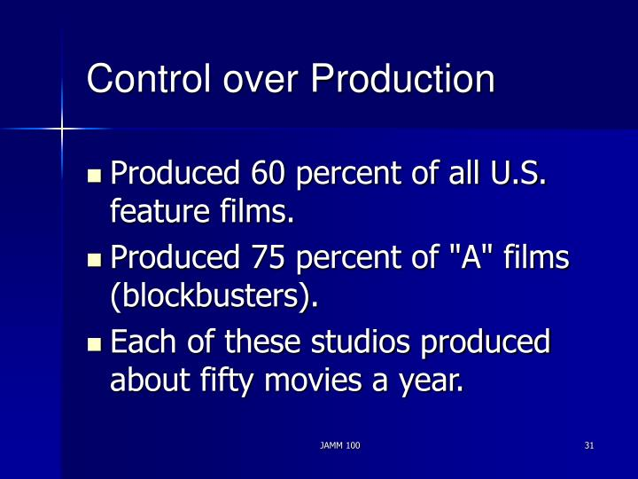 Control over Production