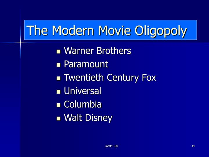 The Modern Movie Oligopoly