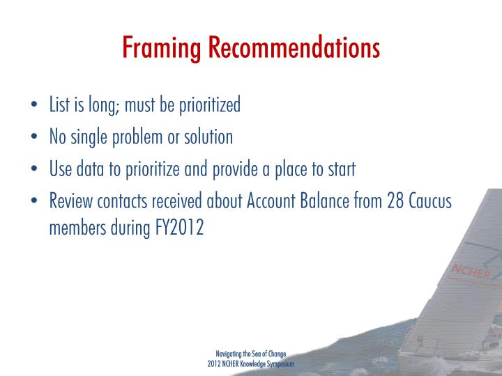 Framing Recommendations