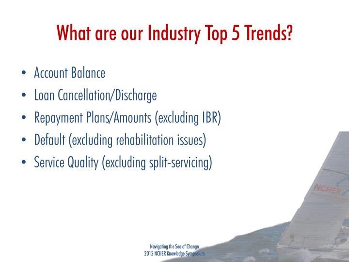 What are our Industry Top 5 Trends?