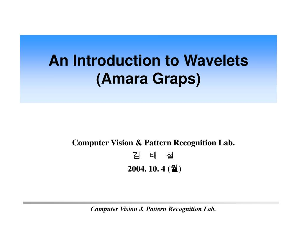 computer vision pattern recognition lab 2004 10 4 n.