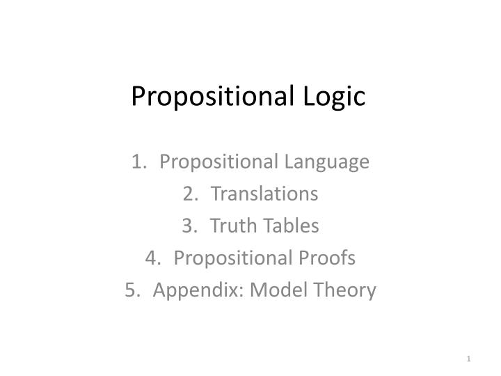propositional logic n.