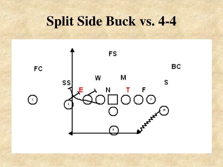 Split Side Buck vs. 4-4