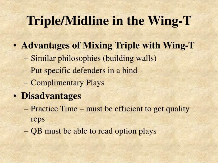 Triple midline in the wing t