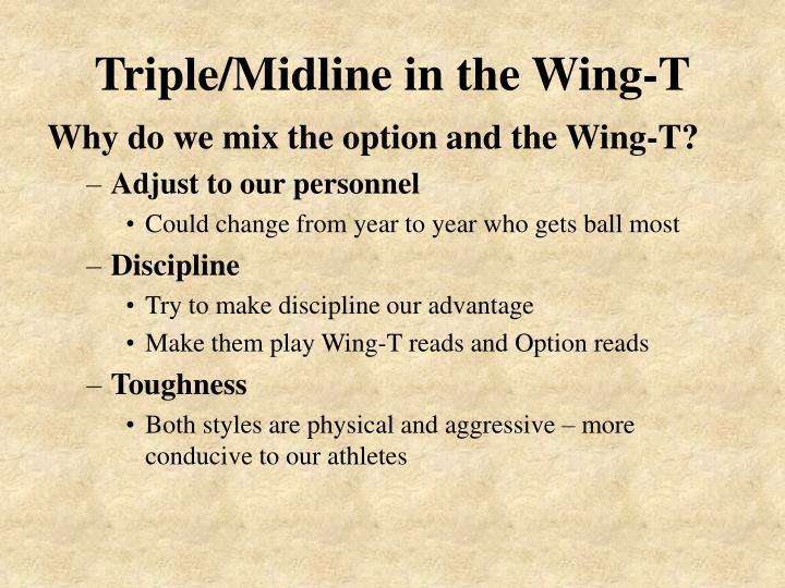 Triple midline in the wing t1