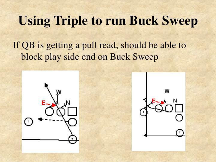 Using Triple to run Buck Sweep