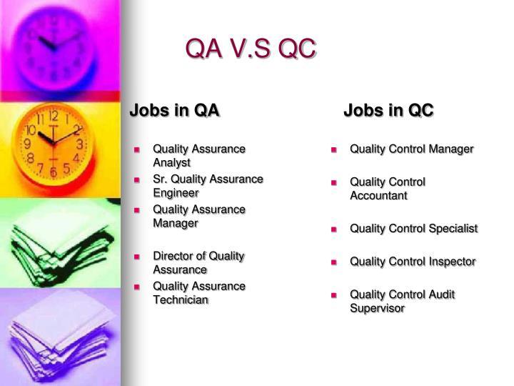 job analysis quality control engineer