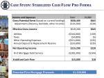 case study stabilized cash flow pro forma