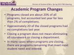 academic program changes