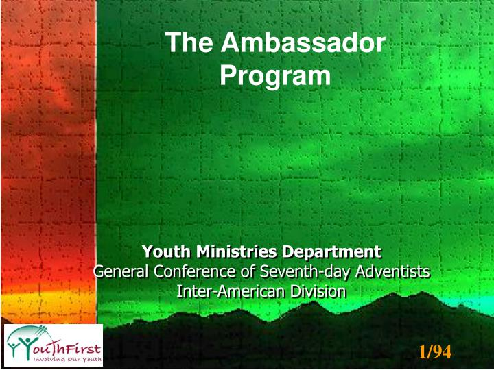 PPT - Youth Ministries Department General Conference of Seventh-day