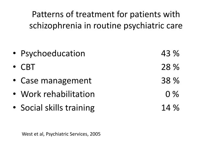 Patterns of treatment for patients with schizophrenia in routine psychiatric care