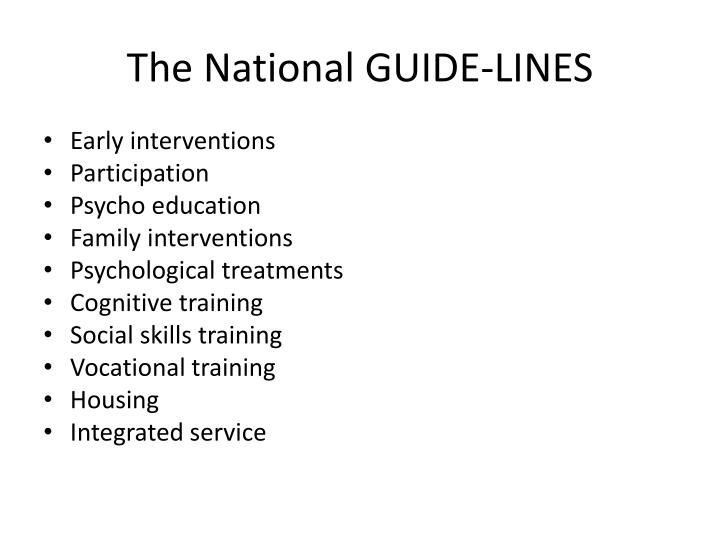 The National GUIDE-LINES