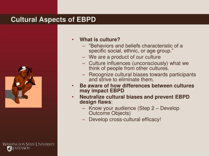 Cultural Aspects of EBPD