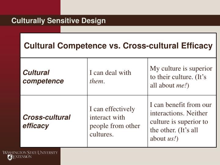 Culturally Sensitive Design