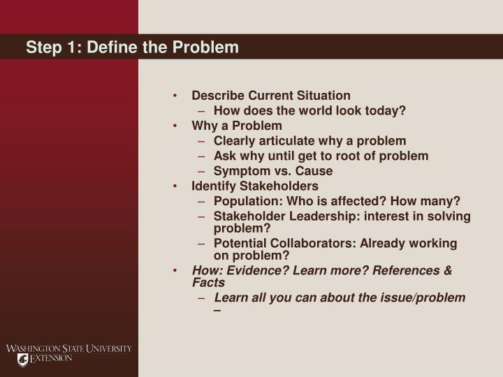 Step 1: Define the Problem