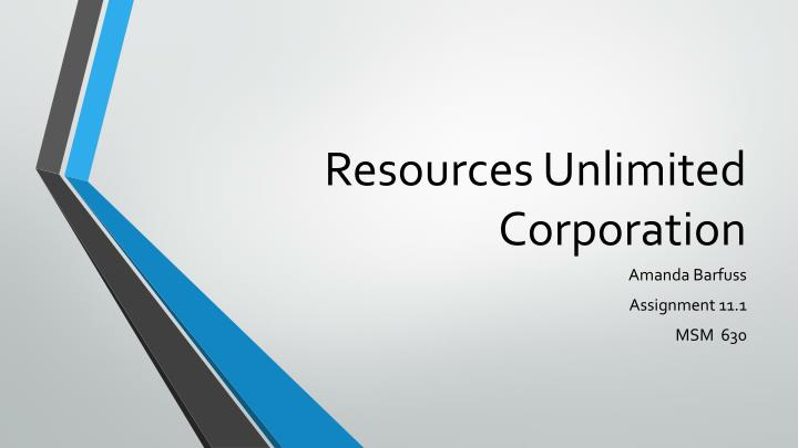 resources unlimited corporation n.