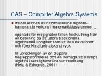 cas computer algebra systems