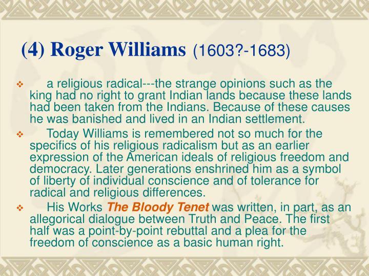 (4) Roger Williams