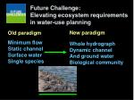 future challenge elevating ecosystem requirements in water use planning