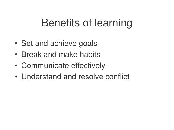 benefits of learning n.