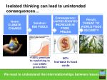 isolated thinking can lead to unintended consequences