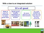 with a view to an integrated solution