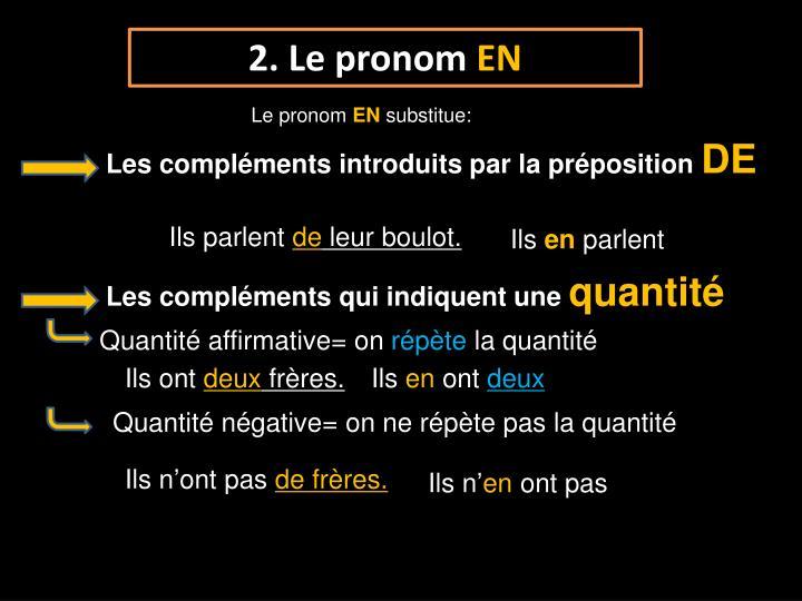 2. Le pronom