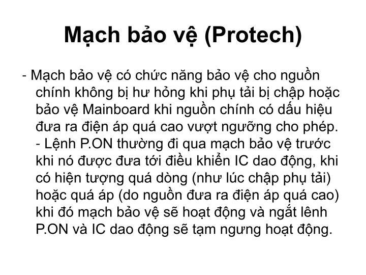 Mạch bảo vệ (Protech)
