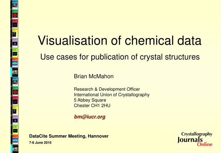 visualisation of chemical data n.