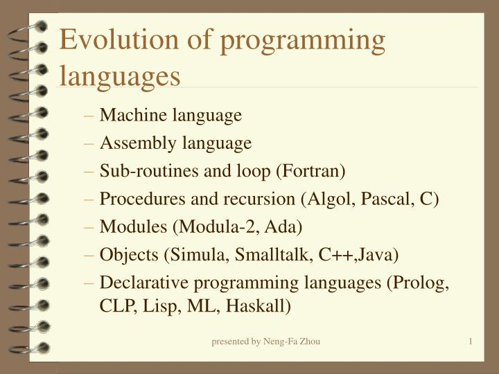 evolution of programming languages n.