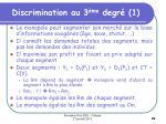 discrimination au 3 me degr 1