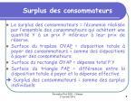 surplus des consommateurs