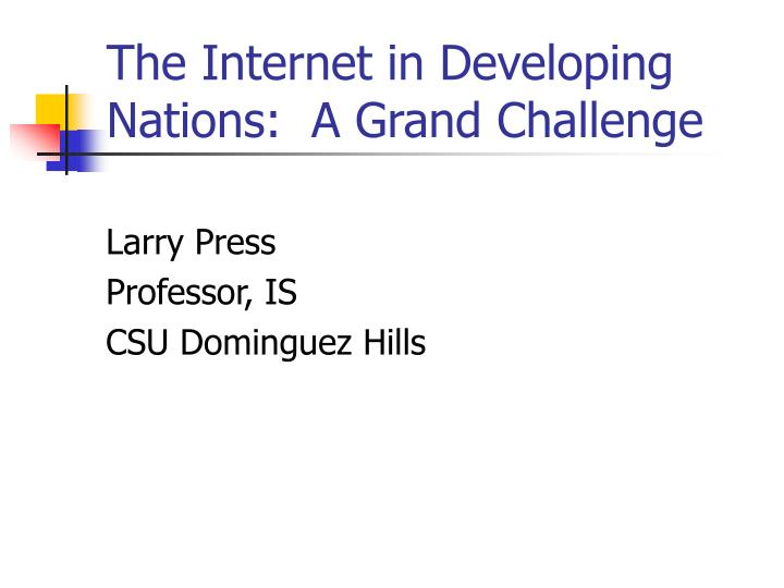 the internet in developing nations a grand challenge n.