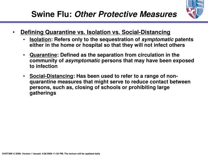 Defining Quarantine vs. Isolation vs. Social-Distancing