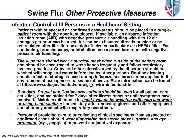 Infection Control of Ill Persons in a Healthcare Setting