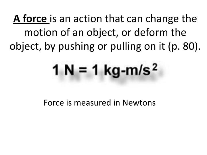 A force