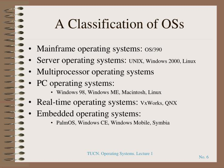 A Classification of OSs