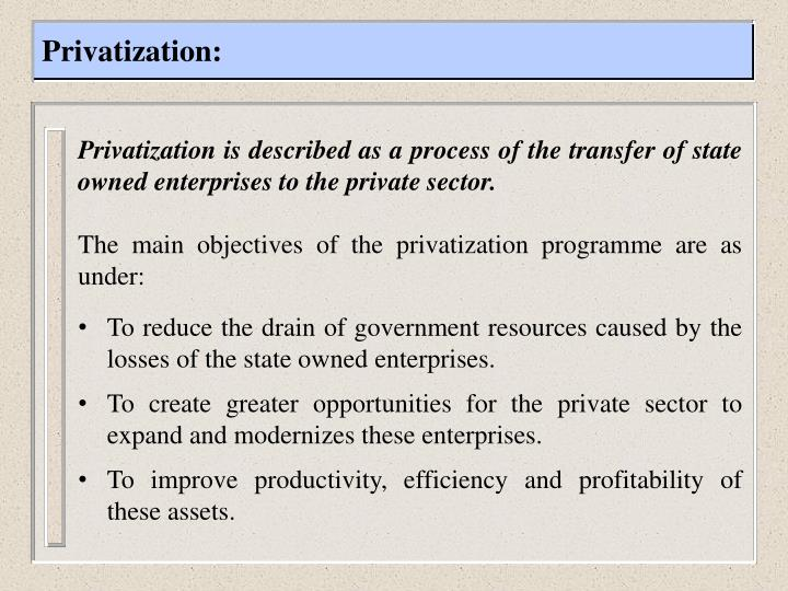 Privatization: