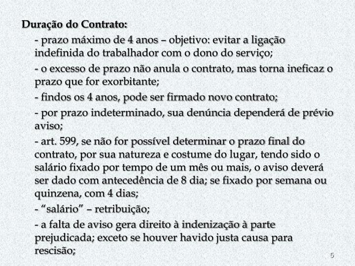 Duração do Contrato: