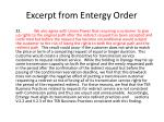 excerpt from entergy order1