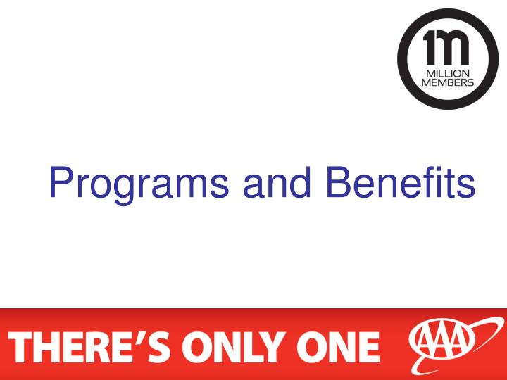 Programs and Benefits